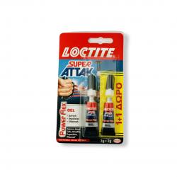 ΚΟΛΛΑ ΣΤΙΓΜΗΣ LOCTIVE SUPER ATTAK 3g GEL FLEX( λάστιχο, δέρμα, ξύλο, μέταλλο, πορσελάνη, πλαστικό) 2ΤΜΧ